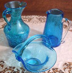 A variety of Pilgrim Glass vessels.