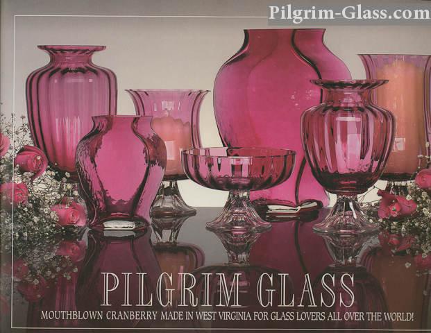 Pilgrims iconic cranberry glass.
