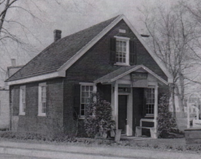 Clara Barton's original school building in Bordentown, MA