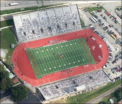 University of Charleston Stadium at Laidley Field, aerial view