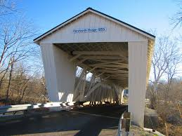 Closer view of the Harshaville Covered Bridge today