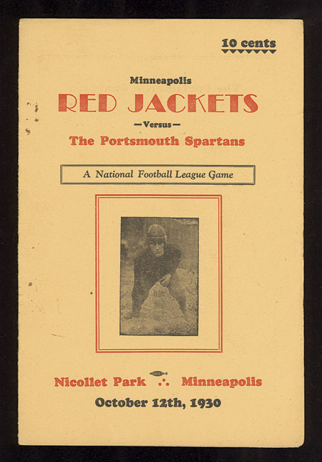 1930 Program: Spartans vs Red Jackets