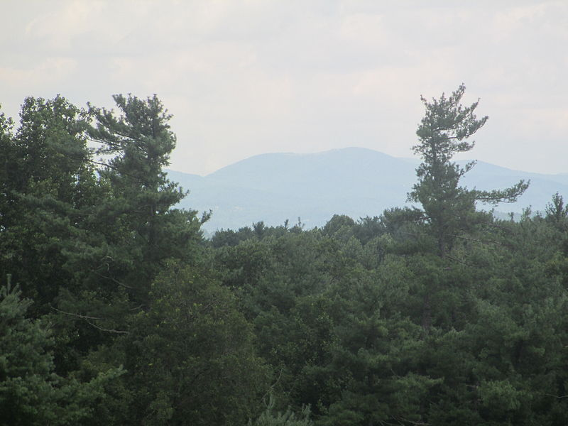 The Blue Ridge Mountains from Sandburg's front porch