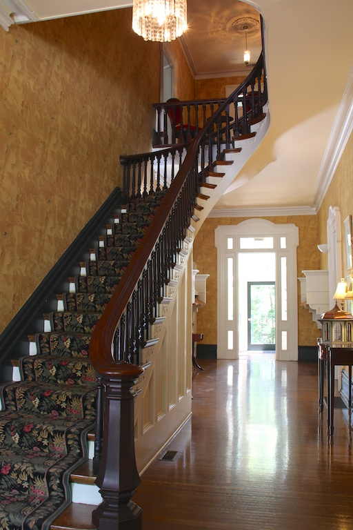 The staircase (image from the Peterson-Dumesnil House Foundation)
