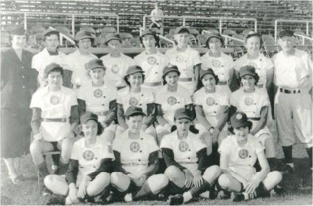 The 1950 Grand Rapids Chicks team portrait.