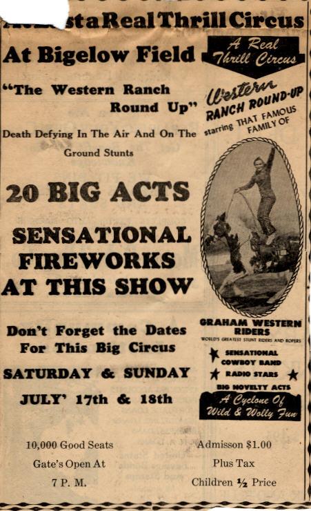 Circus at Bigelow Field, 1948.