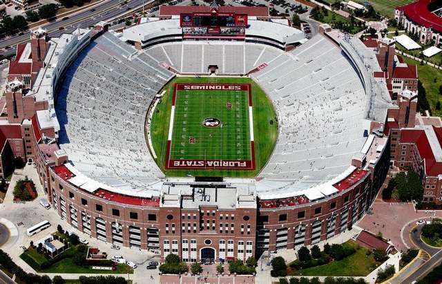 Aerial view of Doak Campbell Stadium