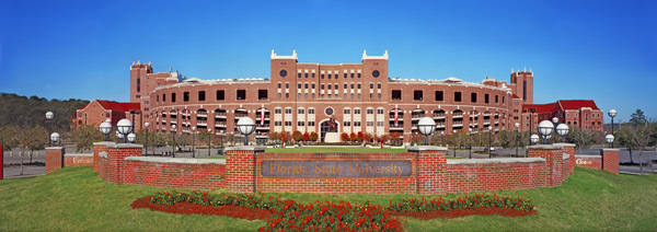 Langford Green, the courtyard in front of Doak Campbell Stadium.