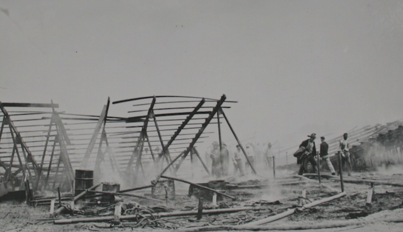 The investigation in the aftermath of the fire.