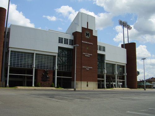 The $30 million Joan C. Edwards Stadium was built in 1991 to replace the old Fairfield Stadium.