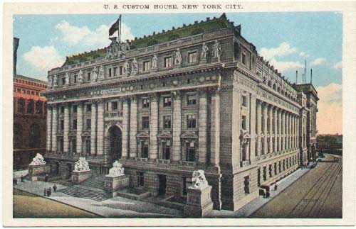 The original U.S. Custom House before it was abandoned and then restored