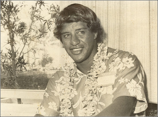 Eddie Aikau in casual Hawaiian attire