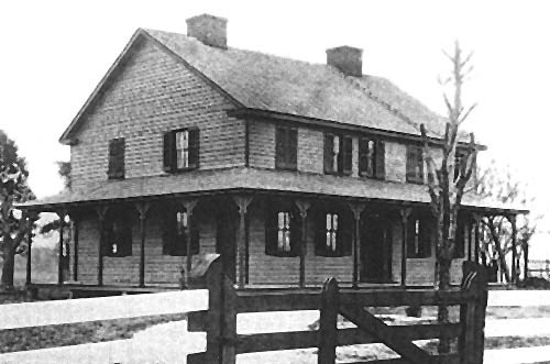 View of house during 1860s