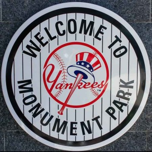 Welcome sign to Monument Park.