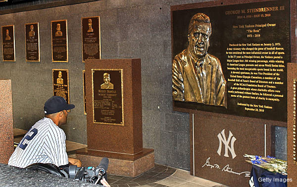 George Steinbrenner's plaque at Monument Park.