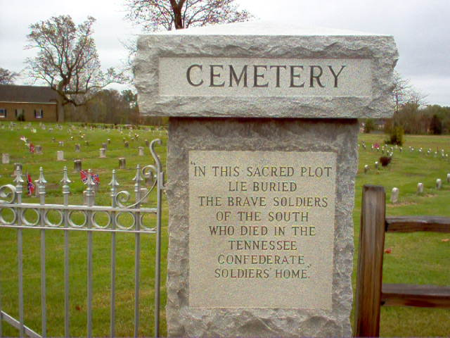 CEMETERY marker at the Tennessee Confederate Soldiers Home Cemetery