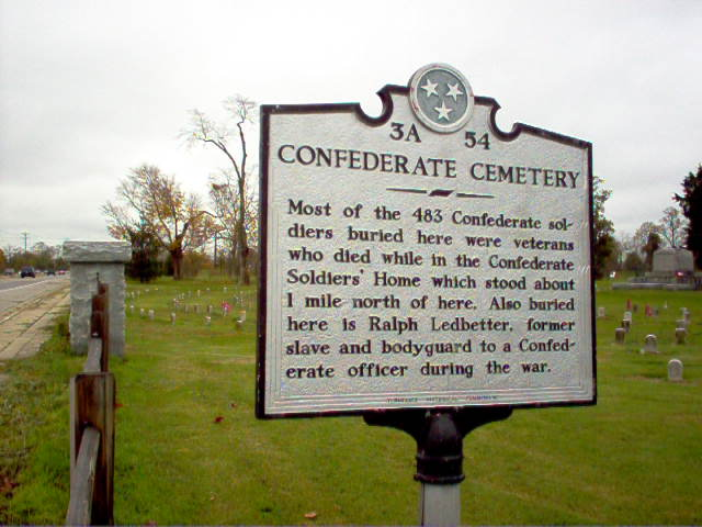 CEMETERY marker #2 at the Tennessee Confederate Soldiers Home Cemetery 7/10/05