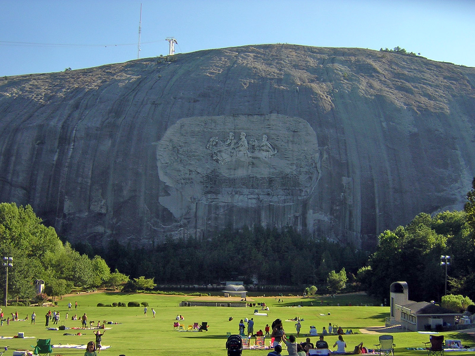 The North Face of the mountain featuring the bas-relief carving