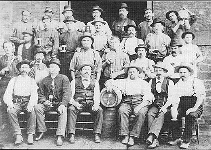 Some Employees of Eberhardt & Ober Brewery