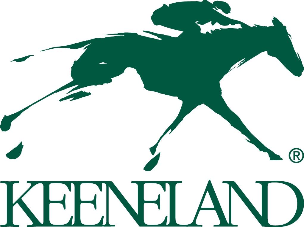 The iconic Keeneland sign