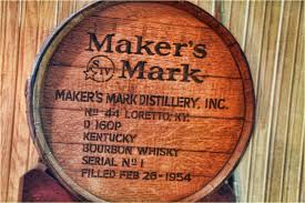 A barrel of the Makers Mark bourbon