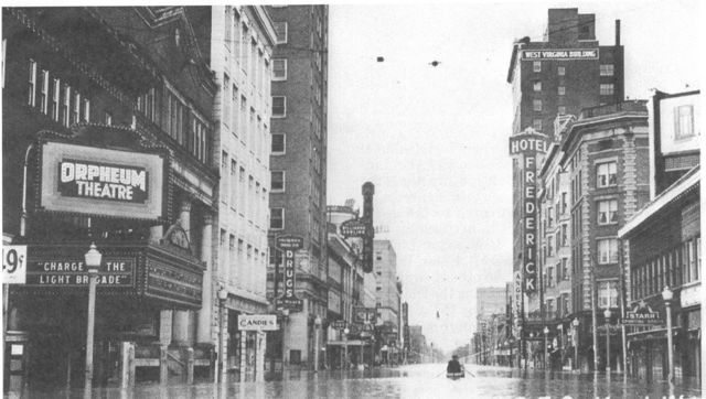 4th Avenue during the flood of 1937