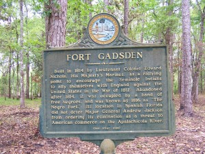 This historical marker provides information about the fort.
