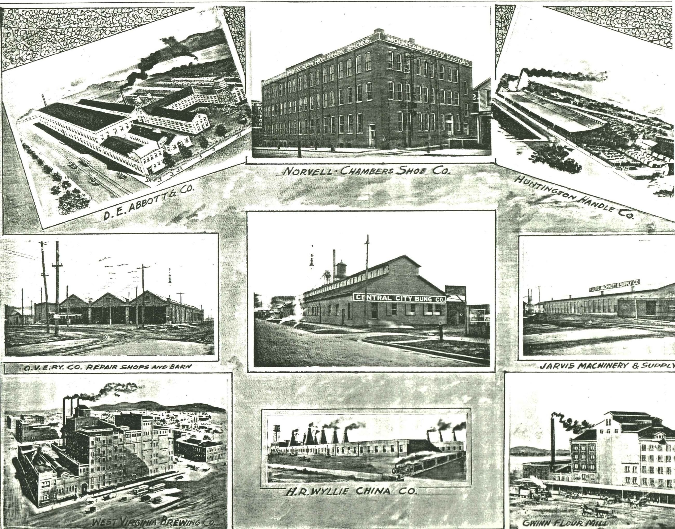 Additional factories from Central City and the surrounding area. Image courtesy of the West Huntington Public Library.