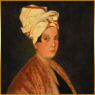 The most popular depiction of Marie Laveau today.