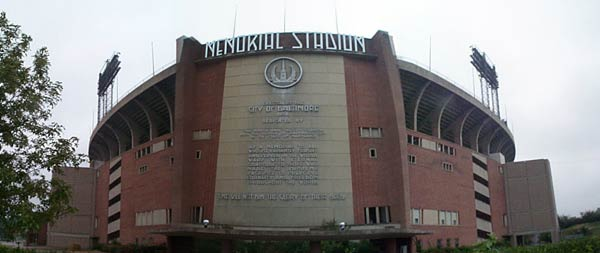 Memorial Stadium was home to the Baltimore Colts