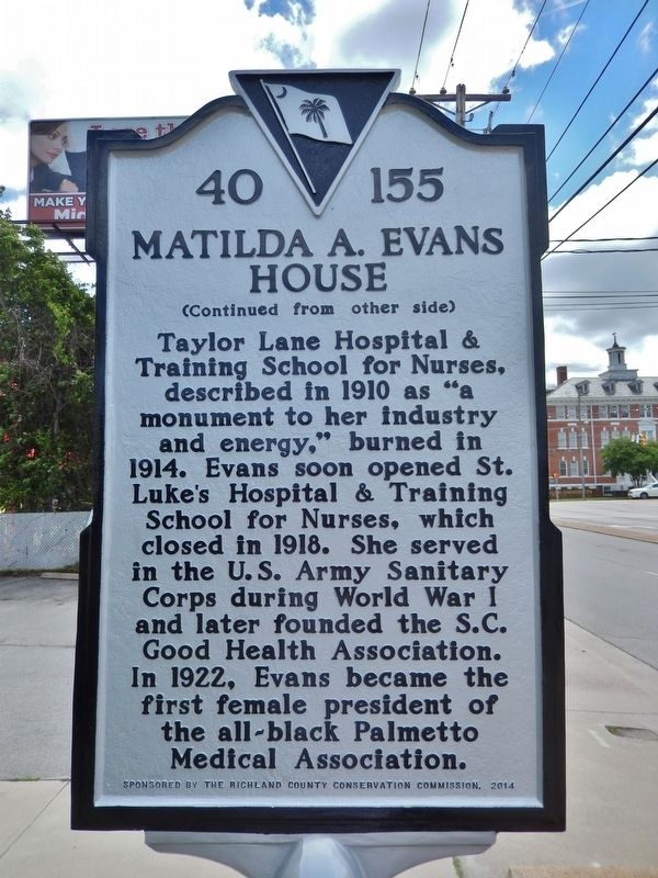 The other side of the historical marker.