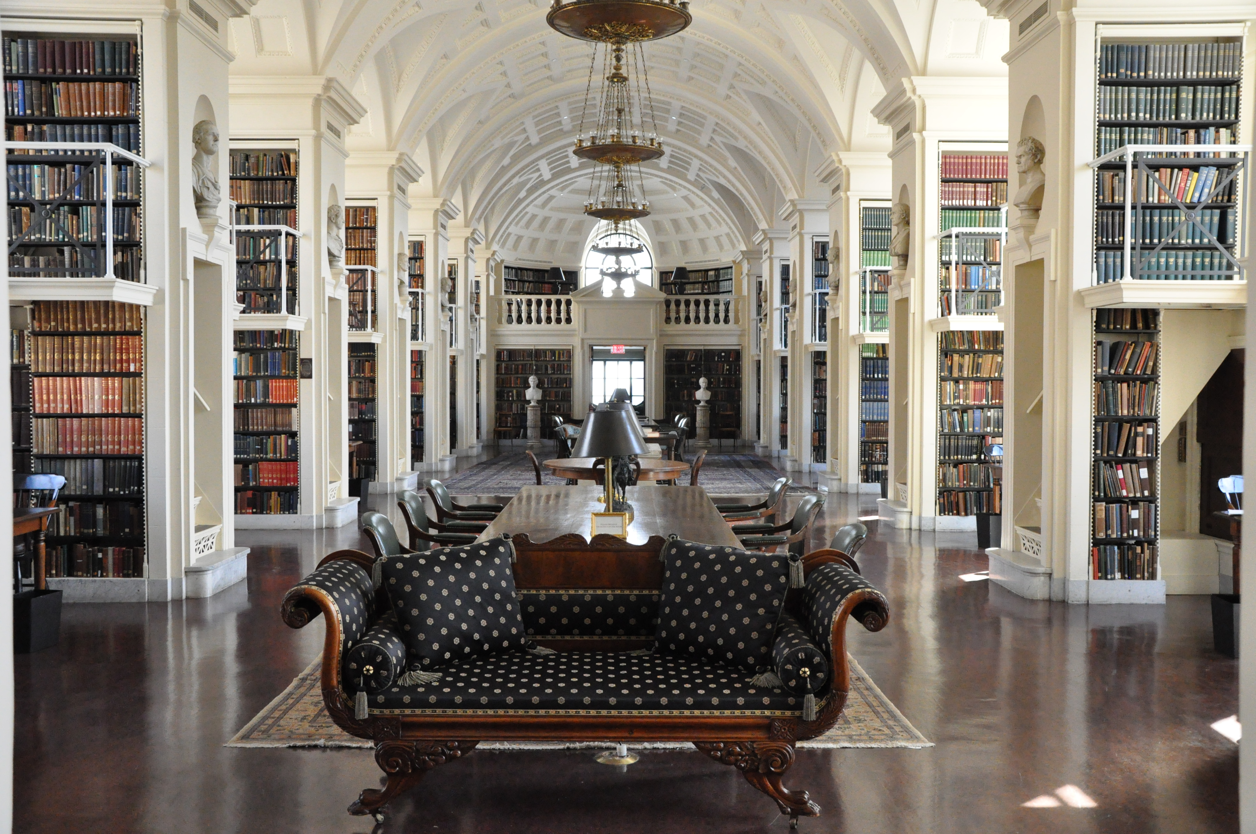 The Athenæum is a book-lover's paradise with five stories of reading spaces surrounded by art and overlooking the