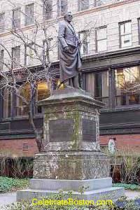 Statue of Josiah Quincy, mayor of Boston, President of Harvard, and member of Congress.