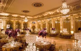 The hotel ballroom has been the location of many celebrity weddings
