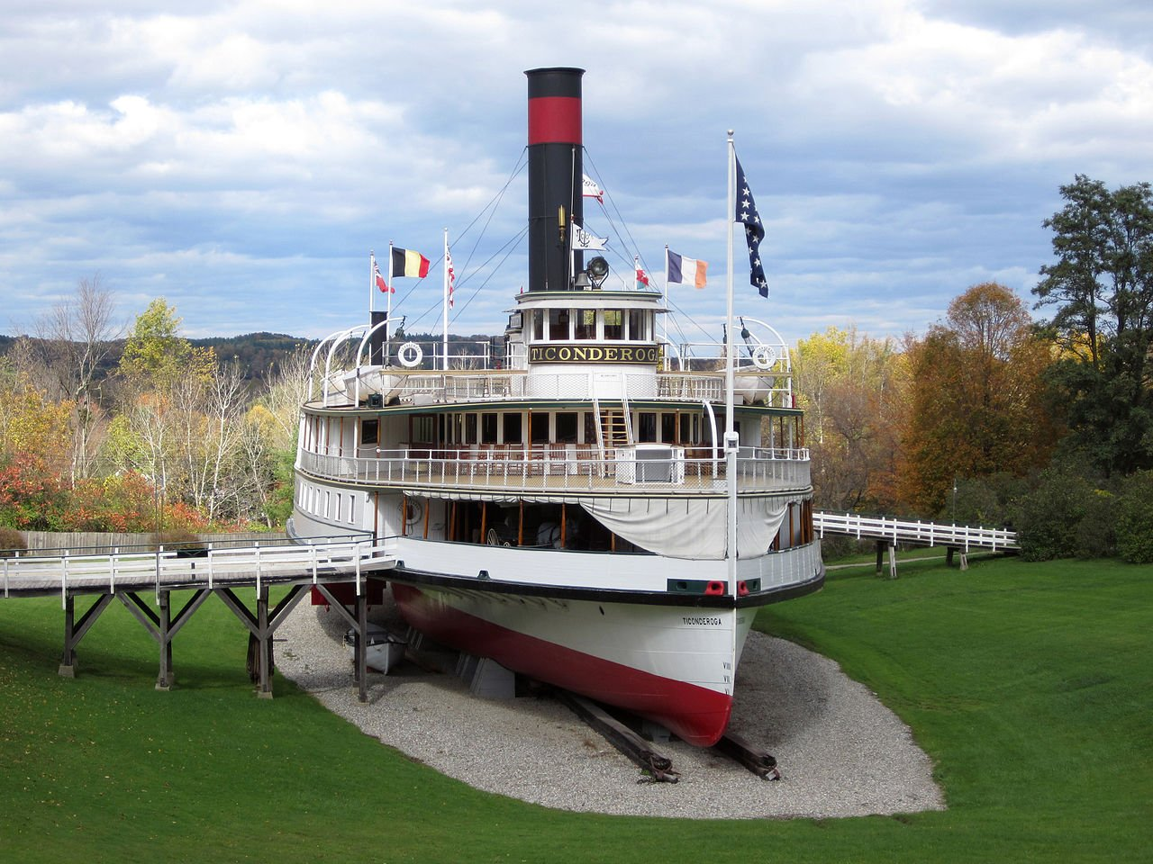 The steamboat Ticonderoga was built in 1906 and operated until 1960.