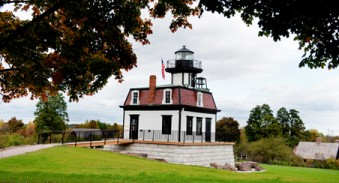 In 1871 this lighthouse was built in Colchester Reef to mark three reefs between Vermont and New York. For eleven men and their families, this was their home and their workplace.