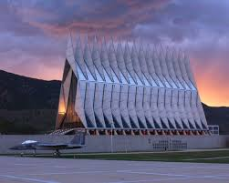 Cadet Chapel was built in 1962 and was added to the National Register of Historic Places in 2004.