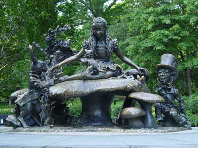 Children are encouraged to touch, and even climb on the statue.