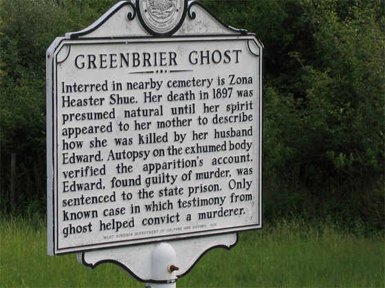 West Virginia historical marker located near the interstate shares a brief summary of this mysterious event.
