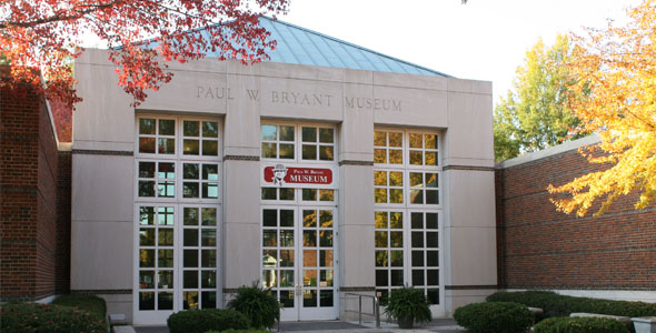 The Bryant Museum honors the legacy of Alabama football head coach Paul Bryant, who led Alabama to 323 victories and six national championships.