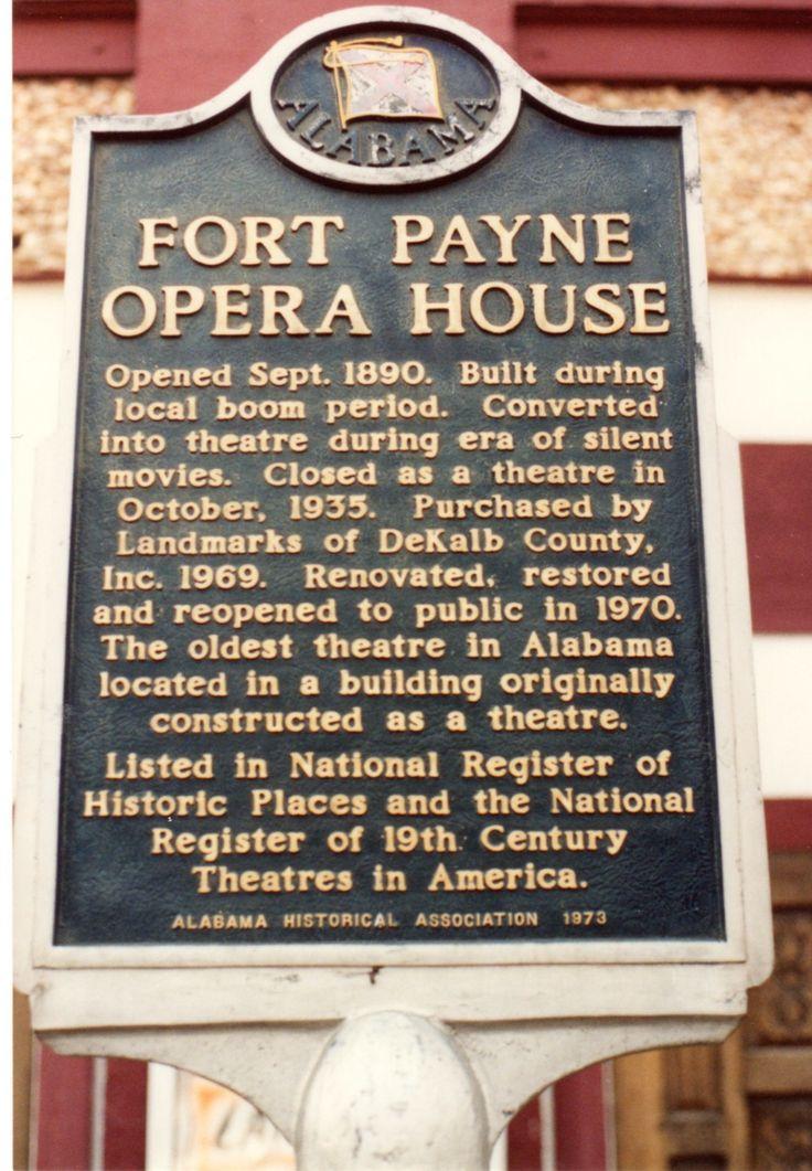 Fort Payne Opera House's Historical Marker