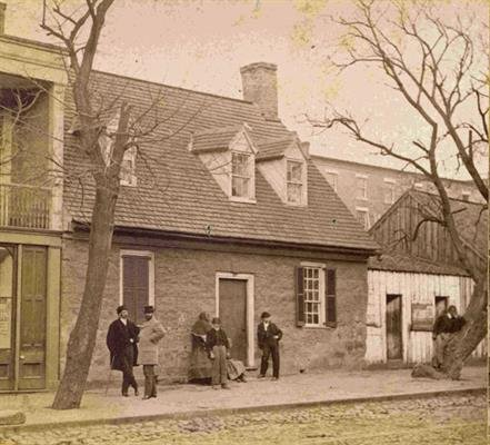 The Old Stone House in 1869 (image from the Poe Museum)