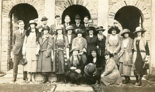 The Poe Memorial Association at the museum's opening ceremony, 1922 (image from the Poe Museum)
