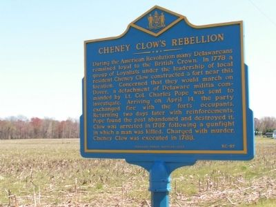 This State Historical Marker provides information about the rebellion and was dedicated by the Delaware Public Archives.