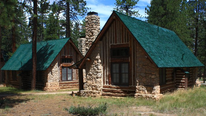 These cabins were built a couple of years after the lodge.