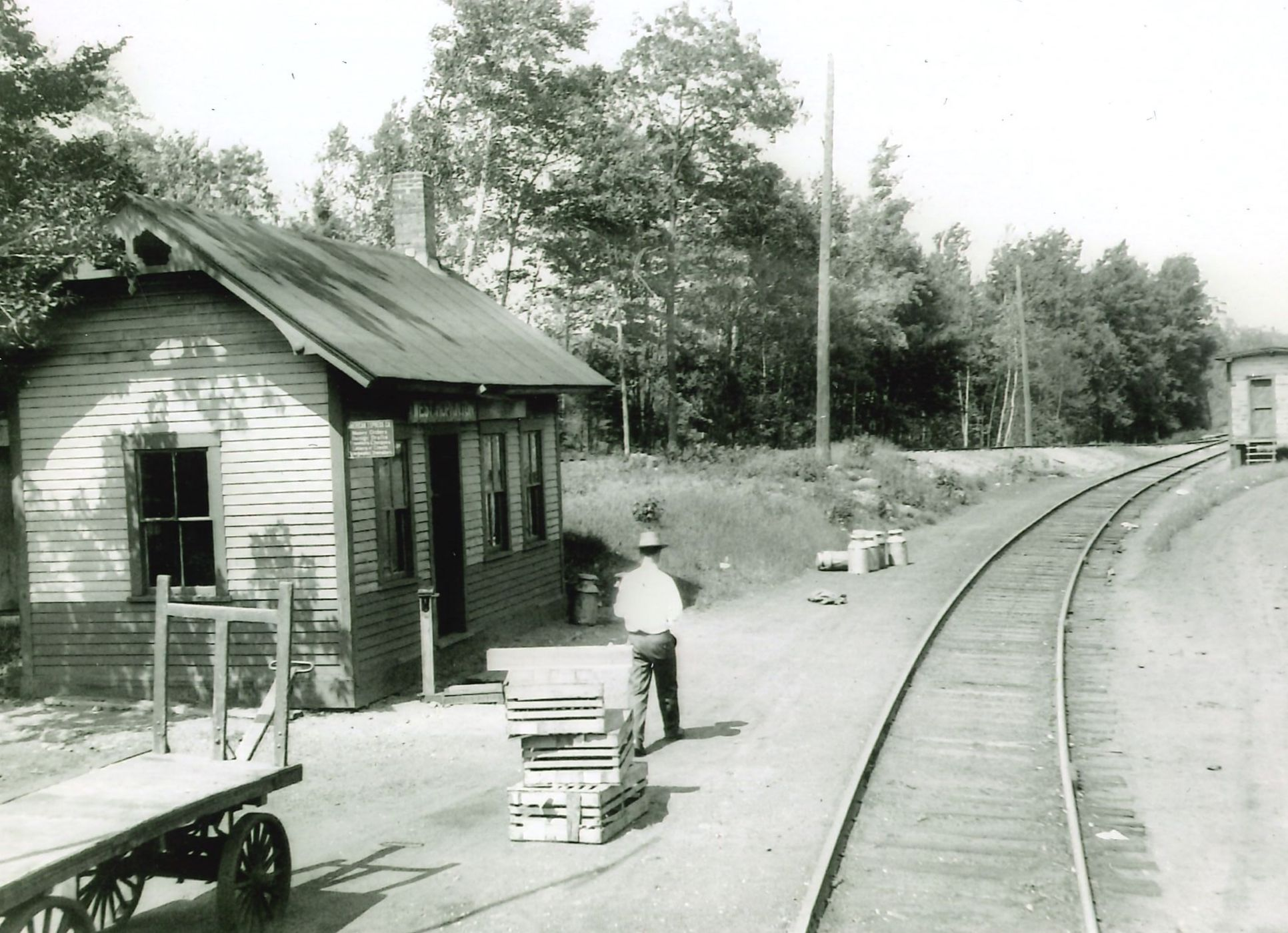 Image of the West Hopkinton station.