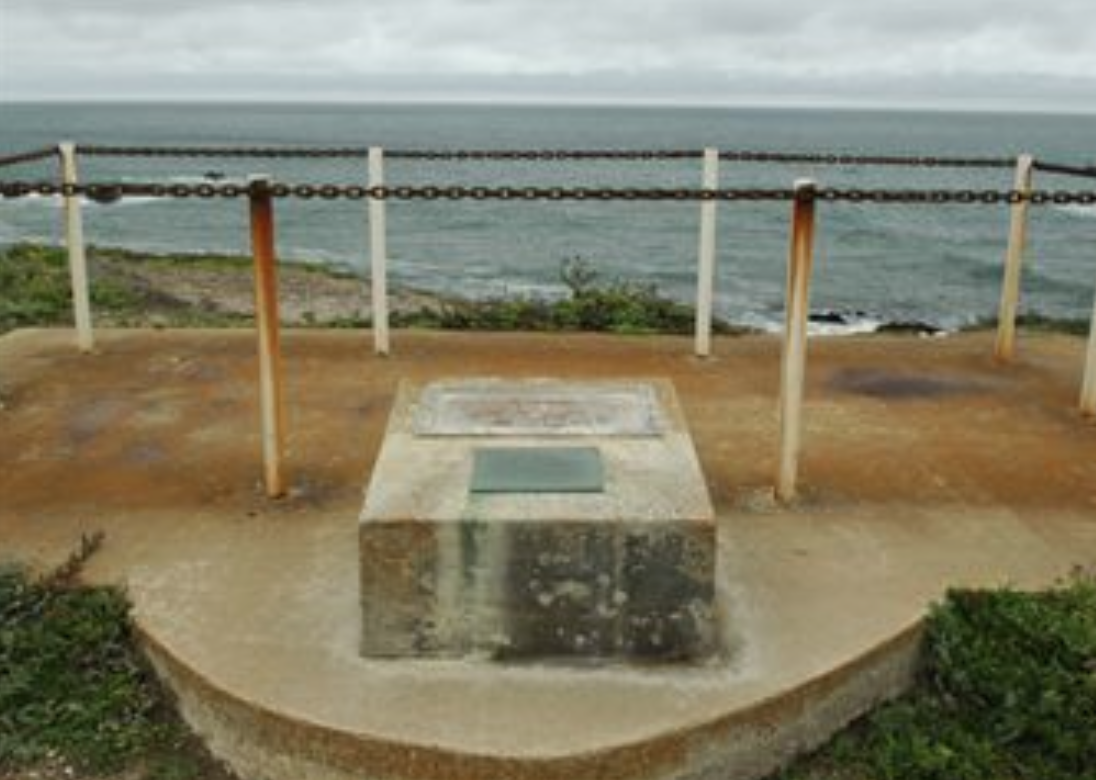 Memorial at Vandenberg AFB near the site of Honda Point Disaster