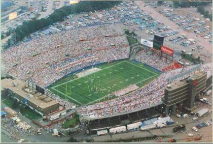 Aerial view of Foxboro Stadium.