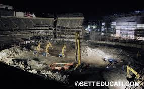 Demolition of Foxboro Stadium.