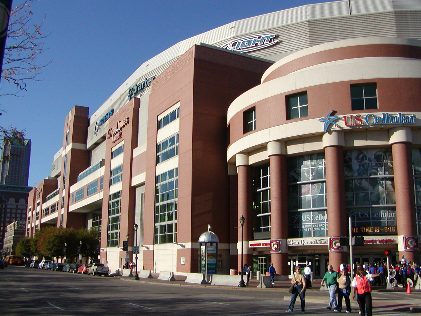 Street view of the Edward Jones Dome.
